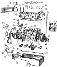 """Kent Ford Cortina External Engine Diagram"""