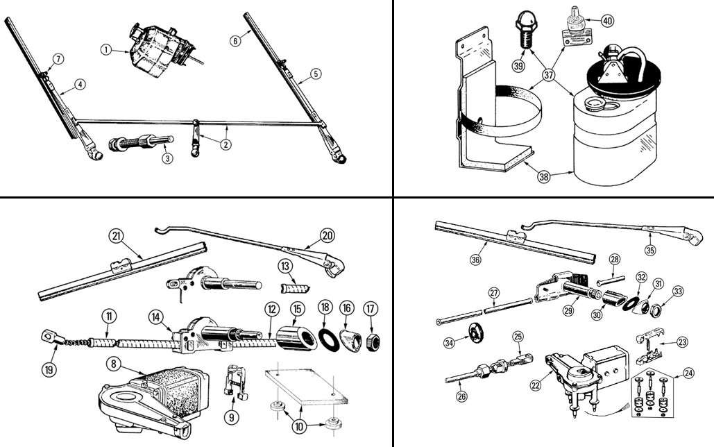 Wiper Parts Morgan  4 Plus 4