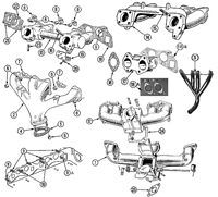 """Intake Exhaust Manifolds Diagram"""